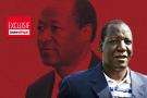 Au premier plan : l'entrepreneur Mahamadou Bonkoungou. Au second plan : l'ancien président burkinabè Blaise Compaoré.