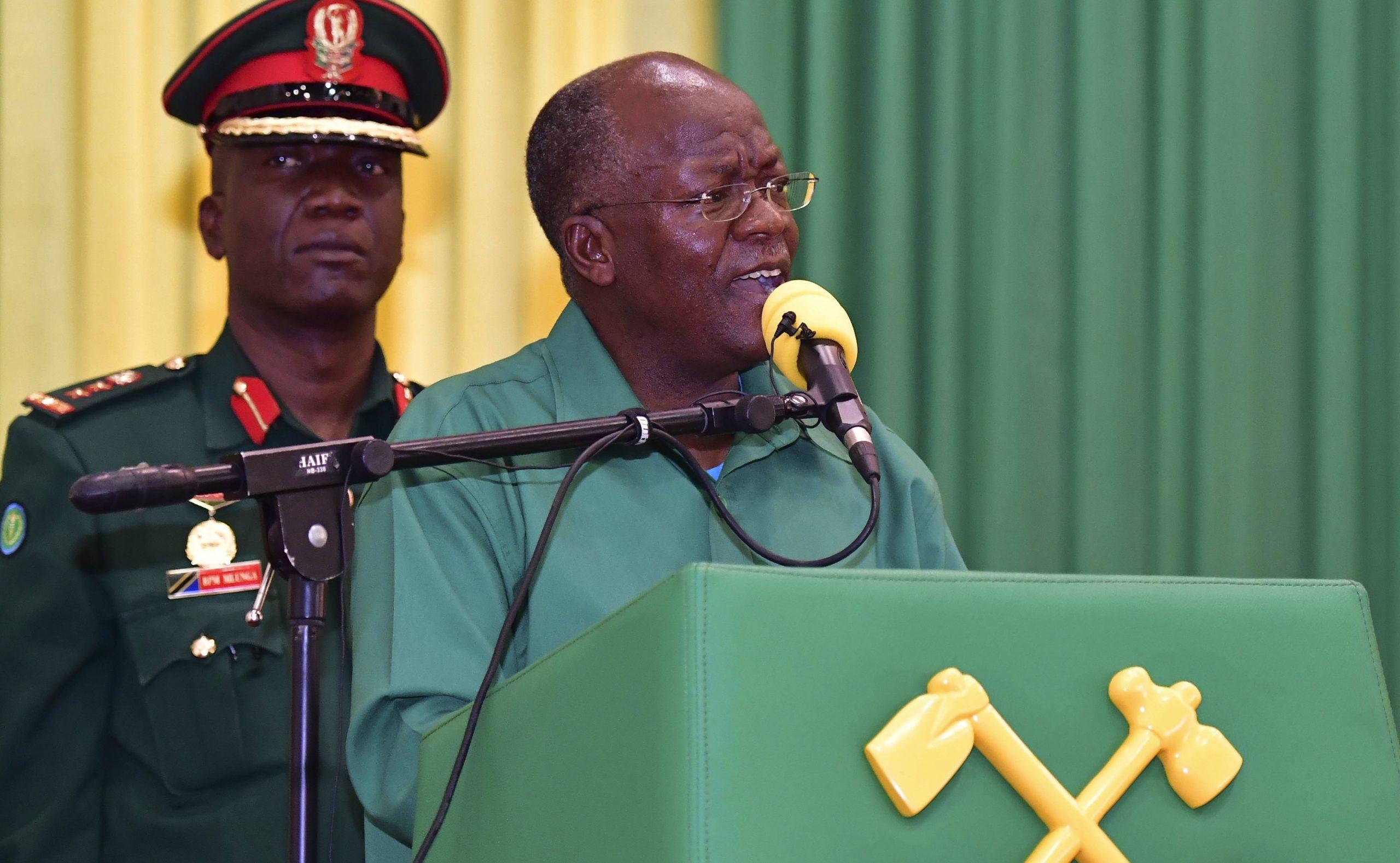 John Magufuli lors d'un rassemblement de campagne, le 27 octobre 2020.