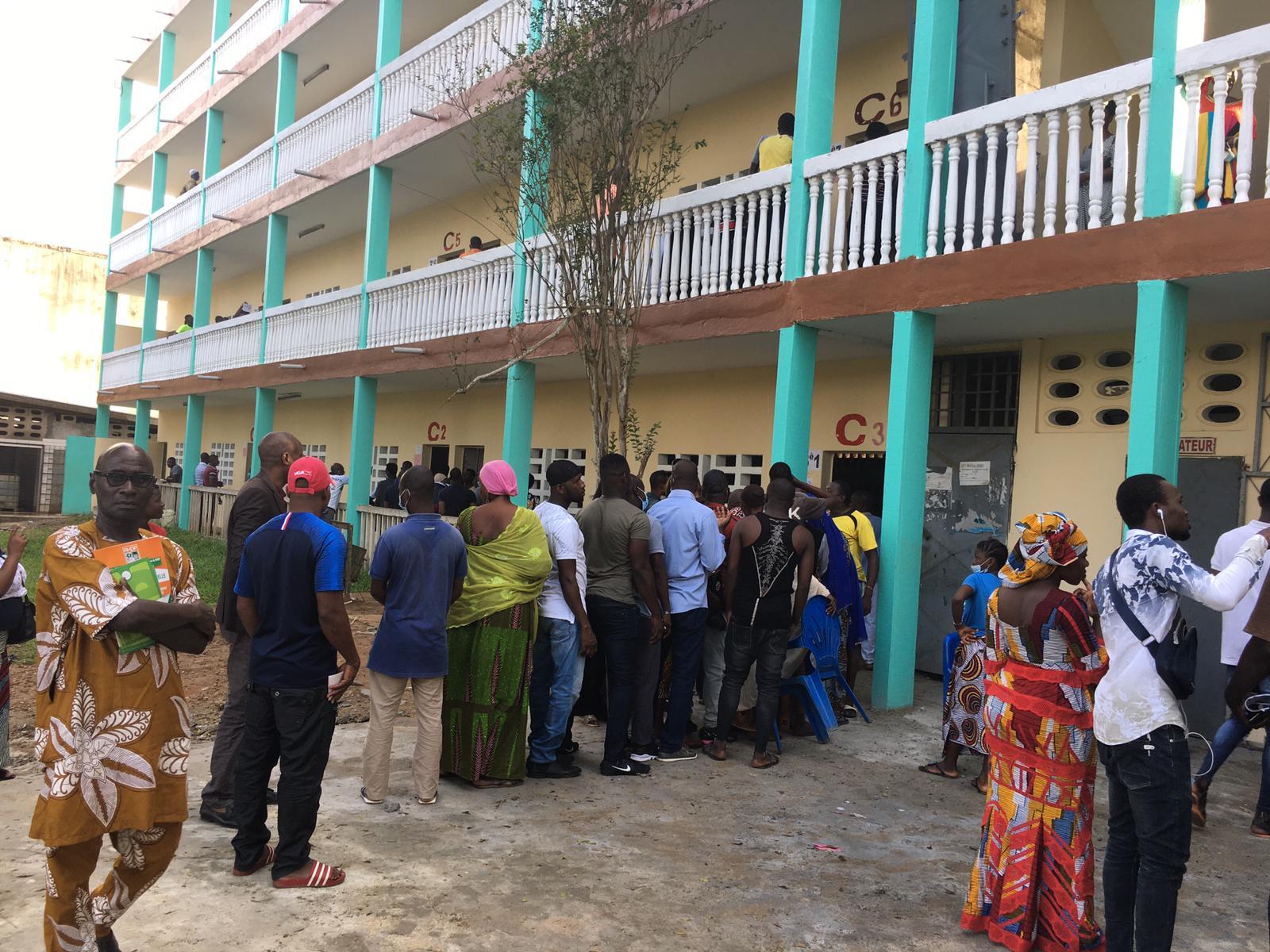 Au collège Anador d'Abobo, le 31 octobre 2020.