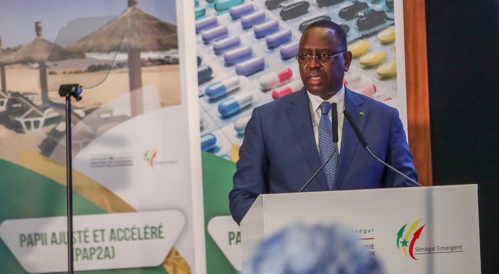 Macky Sall, lors du Conseil présidentiel pour la relance, le 29 septembre 2020 à Dakar.