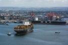 Un cargo de MSC au port de Durban, en Afrique du Sud