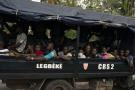 Des manifestants pro-Bédié arrêtés à Abidjan, le 3 novembre 2019, en marge des affrontements post-électoraux.
