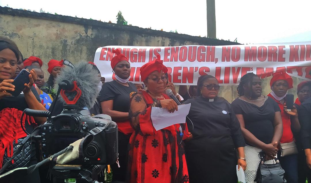 Esther Omam Njomo, à Kumba, au Cameroun.
