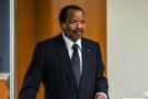 Le président camerounais Paul Biya au siège de l'ONU, à New York, le 22 septembre 2017.