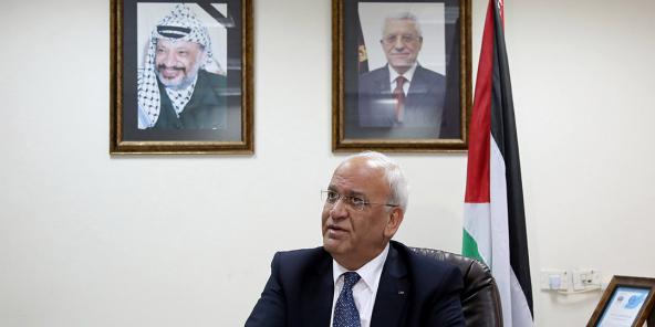 Le secrétaire général de l'Organisation de libération de la Palestine (OLP) , le 3 février 2017 à Jéricho.