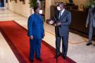 Alassane Ouattara et Henri Konan Bédié, à l'issue de leur rencontre du 11 novembre 2020 à l'hôtel du Golf.