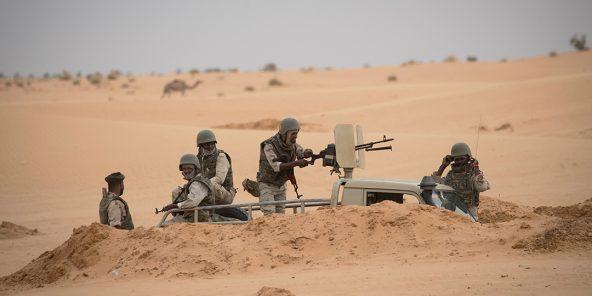 Des soldats mauritaniens, près de la frontière avec le Mali, en novembre 2018.