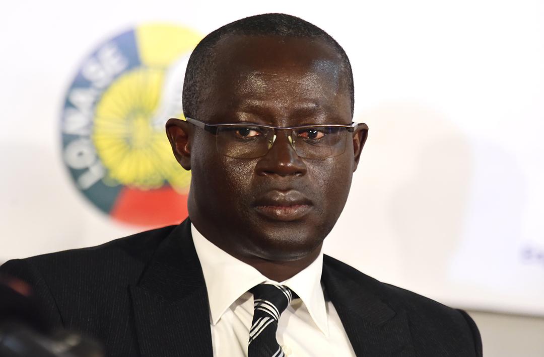 Le président de la Fédération sénégalaise de football, Augustin Senghor, à Dakar le 17 mai 2018.
