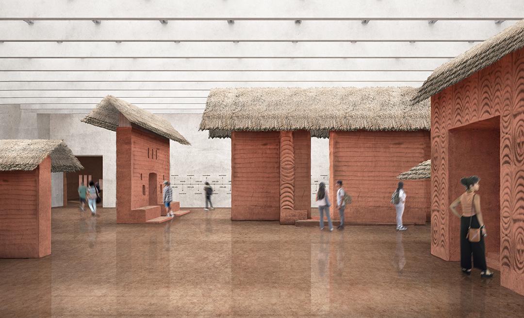 Les constructions intérieures devraient s'inspirer de l'architecture historique du royaume du Bénin