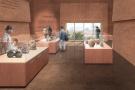 Maquette du futur musée Emowaa, à Benin City, au Nigeria.