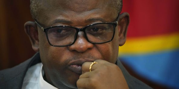L'abbé Donatien N'shole, secrétaire général de la Cenco, en janvier 2019 à Kinshasa.