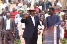 Le président sénégalais Macky Sall, en février 2020, lors de l'inauguration d'un parc éolien à Thiès.