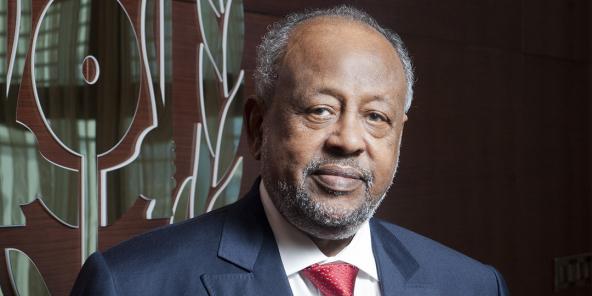 Ismail Omar Guelleh au palais présidentiel de Djibouti, en octobre 2020