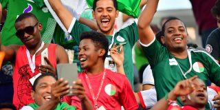 Des supporteurs malgaches lors d'un match entre Madagascar et le Nigeria, lors de la Coupe d'Afrique des Nations (CAN), le 30 juin 2019.
