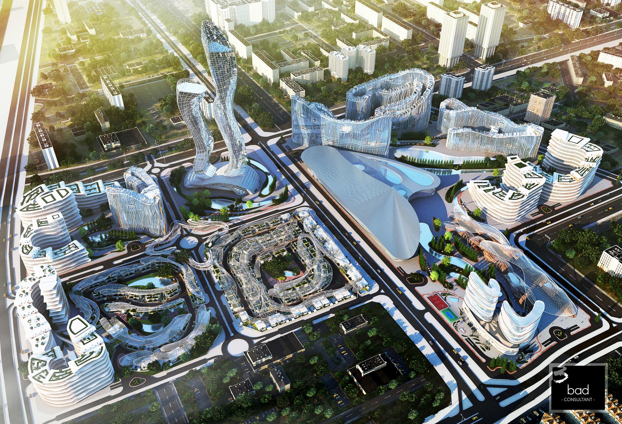 Le projet de Diamniadio Lake City, par leur concepteur commun, l'architecte libanais Hussein Bakri.