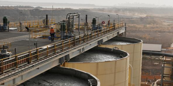 Le site aurifère de Hounde, exploité par Endeavour au Burkina Faso.