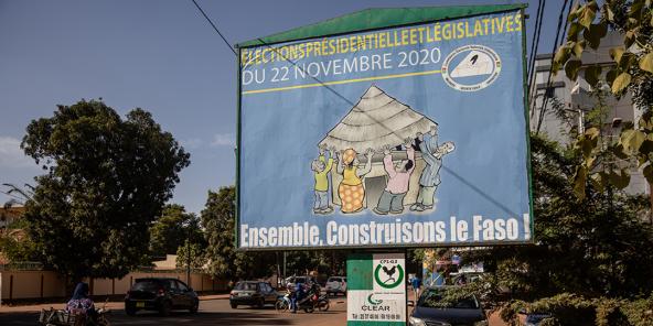 Une affiche électorale à Ouagadougou, le 20 novembre 2020.
