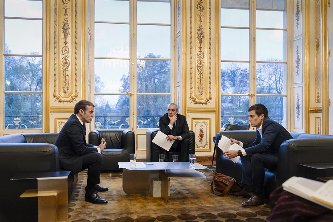 Lors de l'entretien, le 16 novembre 2020, à l'Élysée.