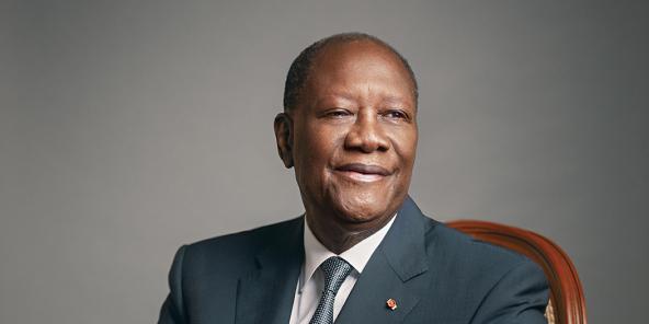 Le président ivoirien Alassane Ouattara à Abidjan, le 9 mars 2020.