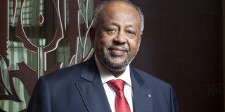 Ismaïl Omar Guelleh (Djibouti), président de la République au palais présidentiel lors d'une interview accordée à Jeune Afrique les 18 et 19 octobre 2020.