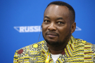 Etetni Longondo, le ministre congolais de la Santé, lors du sommet Russie-Afrique de Sotchi, en 2019.