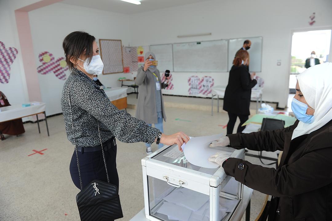 Vote pour le référendum sur la nouvelle constitution, le 1er novembre 2020, à Alger
