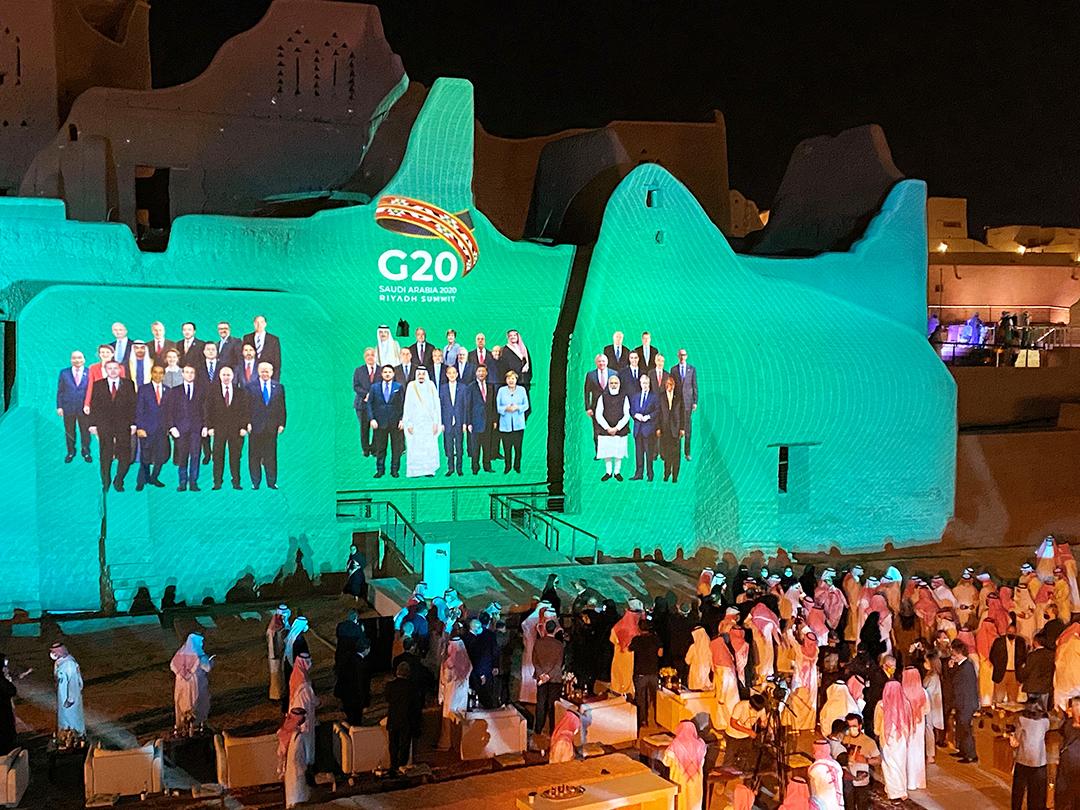 Le sommet du G20 s'est tenu virtuellement dans la capitale saoudienne, les 21 et 22 novembre 2020