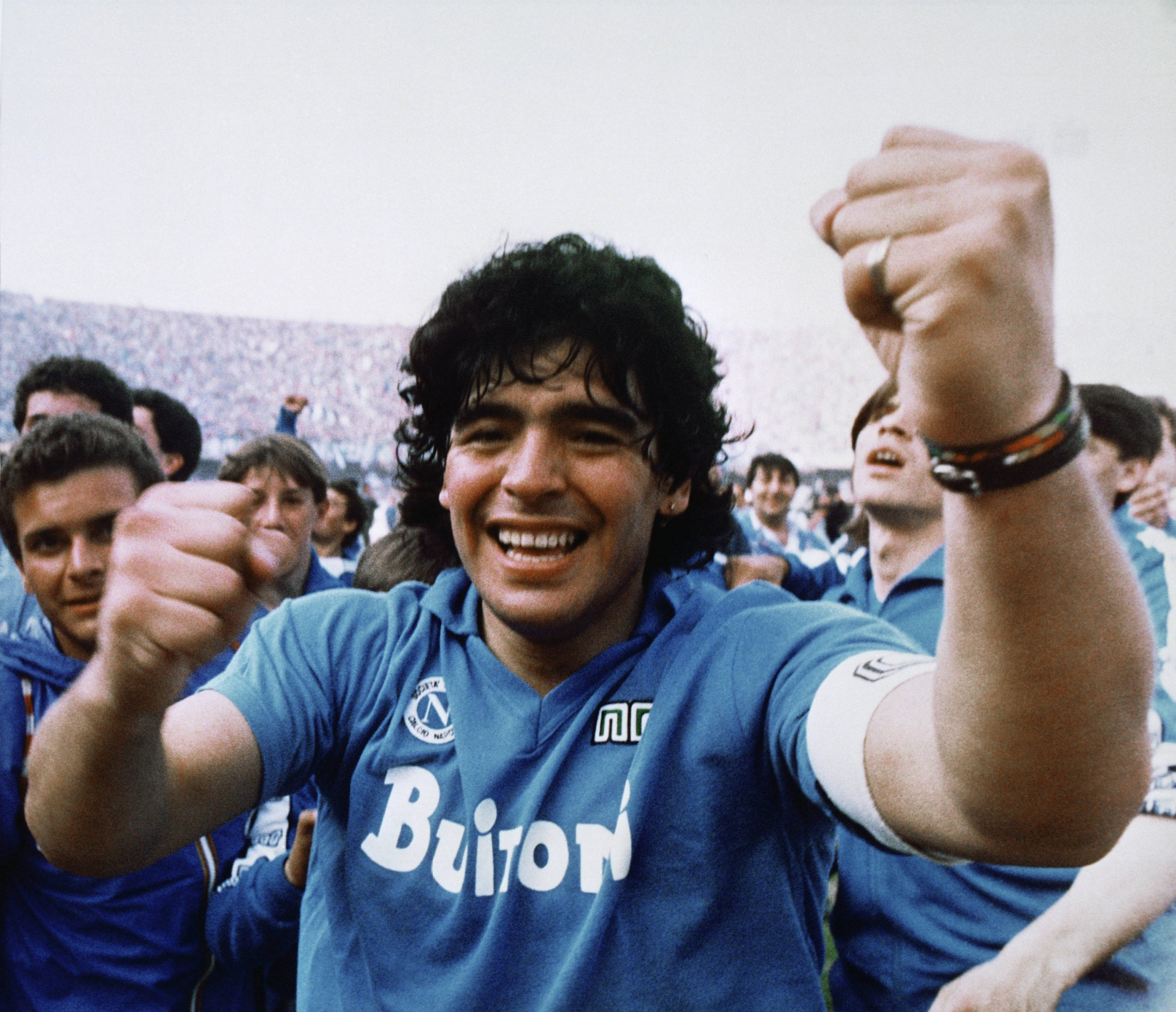 Diego Maradona, sous le maillot de Naples, en 1987.