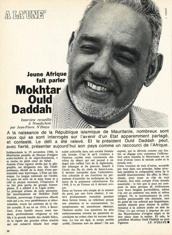 L'entretien entre Mokhtar Ould Daddah et Jean-Pierre Ndiaye, en 1973 à Nouakchott.