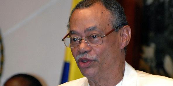 L'ancien président de l'Assemblée nationale du Gabon, Eloi Rahandi Chambrier, ici en juillet 2019, est décédé le 27 novembre 2020.