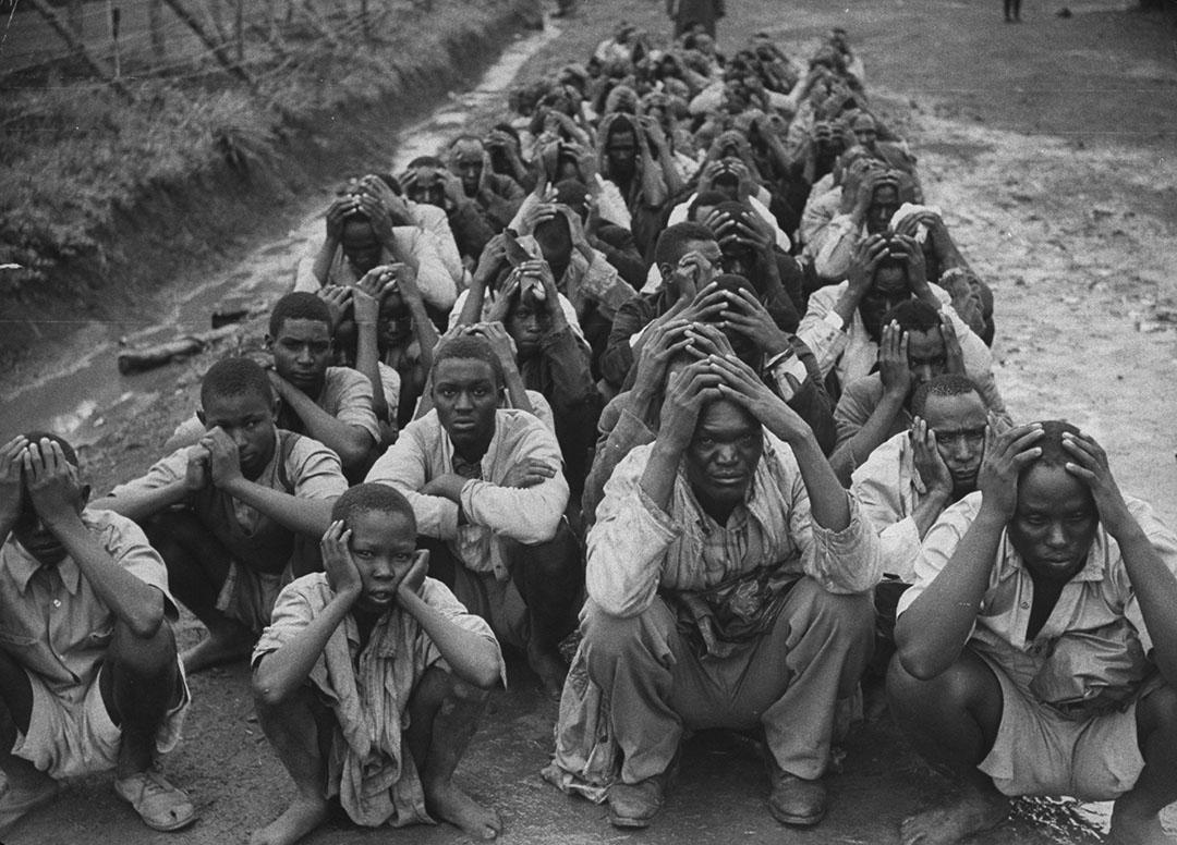 Prisonniers Mau Mau, détenus par les colons britanniques