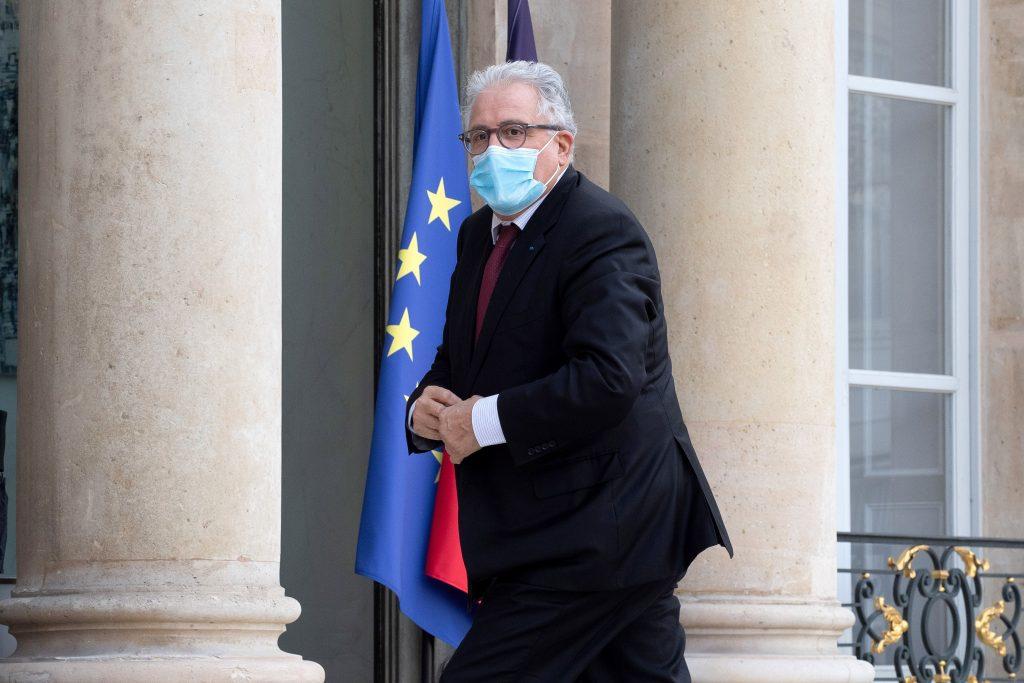 Chems-Eddine Hafiz, recteur de la Grande Mosquée de Paris, à l'Elysée le 20 octobre 2020..