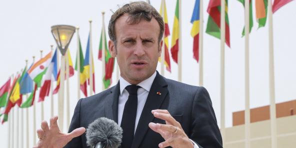 Le président français Emmanuel Macron, lors du sommet du G5 Sahel à Nouakchott, en Mauritanie, le 30 juin 2020.