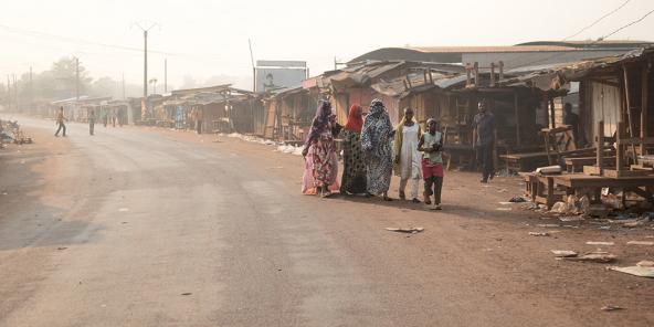Au rond-point Koudoukou, à l'entrée du PK5, à Bangui, le 26 décembre 2019.