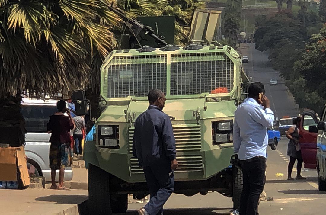 Une patrouille de l'armée éthiopienne à Addis-Abeba, le 26 novembre 2020.