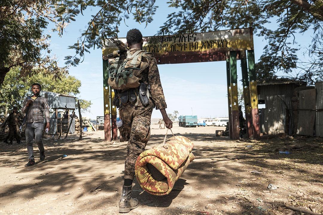 Un soldat éthiopien du 5e bataillon du Northern Command à Dansha, en Ethiopie, le 25 novembre 2020.