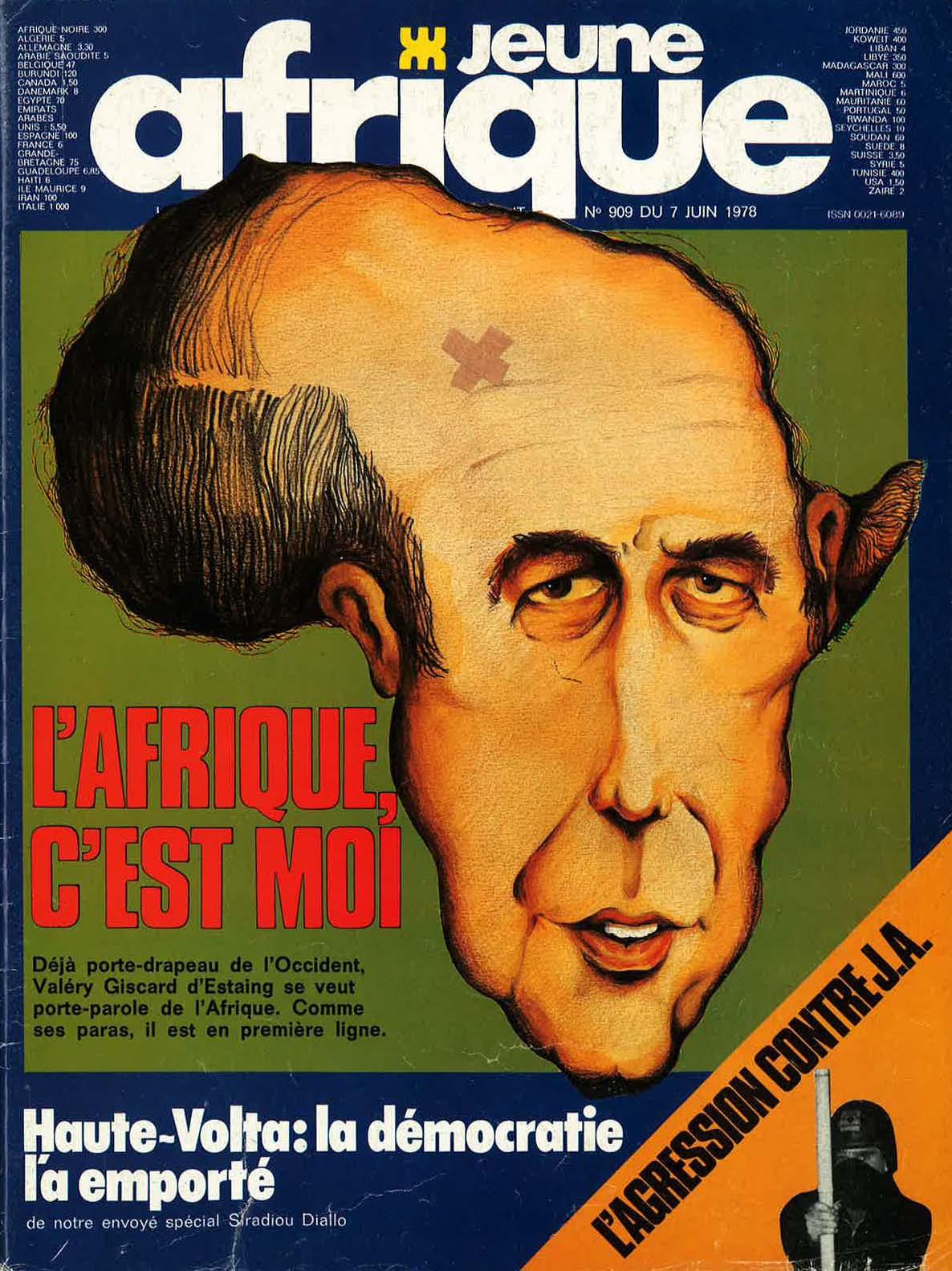 La couverture de Jeune Afrique de juin 1978.