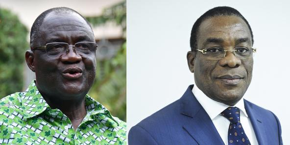 Maurice Kakou Guikahué (à gauche) et Pascal Affi N'Guessan.