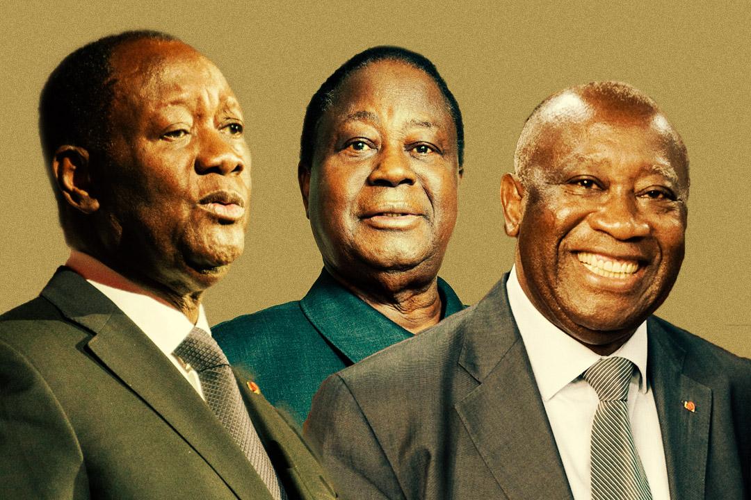 Alassane Ouattara, Henri Konan Bédié et Laurent Gbagbo