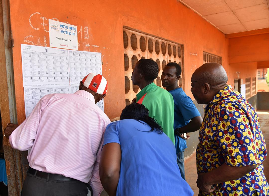 Dans un bureau de vote à Yaoundé, lors des électipons législatives et locales de février 2020( Illustration).