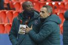 Pierre Achille Webo, entraîneur adjoint de Basaksehir, lors du match de football du groupe H de la Ligue des champions de l'UEFA entre le Paris Saint-Germain (PSG) et Istanbul Basaksehir à Paris, le 8 décembre 2020.