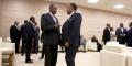 Alpha Condé et Denis Sassou N'Guesso, à Sotchi en 2019.