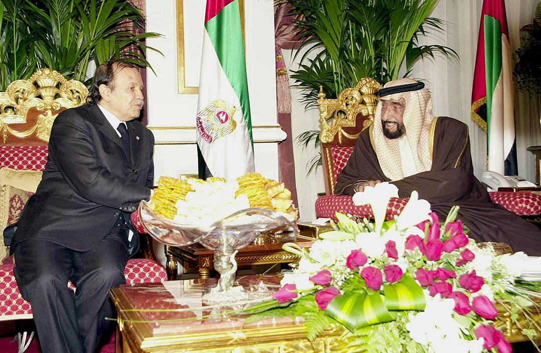 Abdelaziz Bouteflika et Cheikh Zayed (EAU).