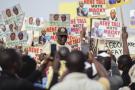 Macky Sall, lors de la campagne présidentielle de 2019, à l'issue de laquelle il a été réélu à la tête du Sénégal.