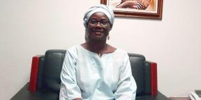 Rosine Sori-Coulibaly dans son bureau à Bissau en novembre 2020.