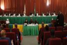 La Cour africaine des droits de l'homme et des peuples, le 1er mai 2020.