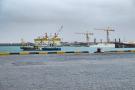 Le port de Nouakchott, avant le début des travaux.
