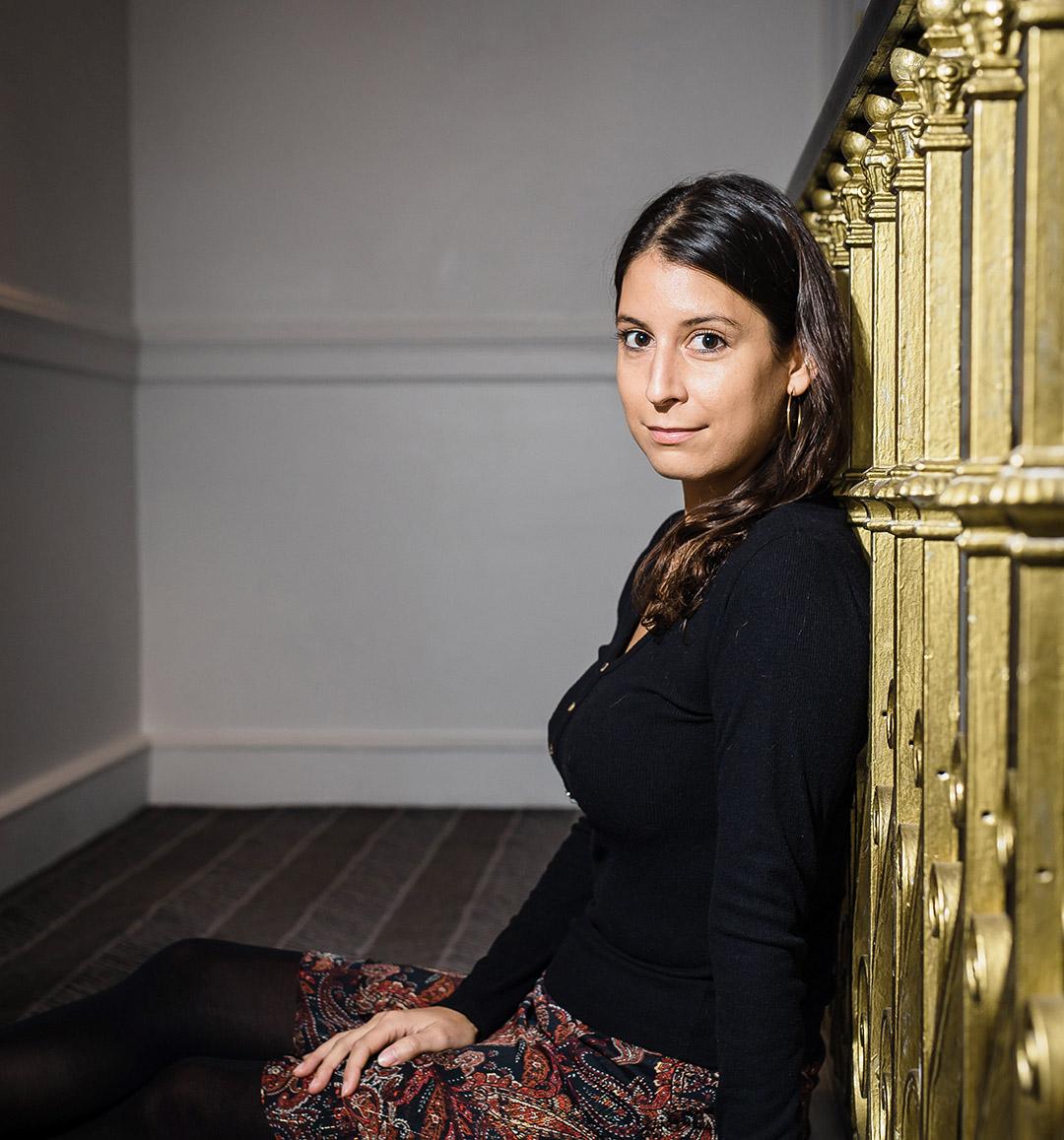 L'autrice Caroline Laurent à l'hôtel Vernet, à Paris, le 6 novembre 2020