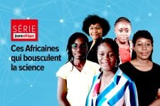 « Ces Africaines qui bousculent la science» : Agnès Ntouba, Zara Randriamanakoto, Faouziath Sanoussi, Dominique Voumbo Matoumona et Nadège Taty.