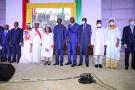 Lors de la cérémonie de prestation de serment d'Alpha Condé, le 15 décembre 2020.
